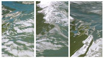 Reihe wasser_beständig: Donau, digitale Collage/Malerei, 2014