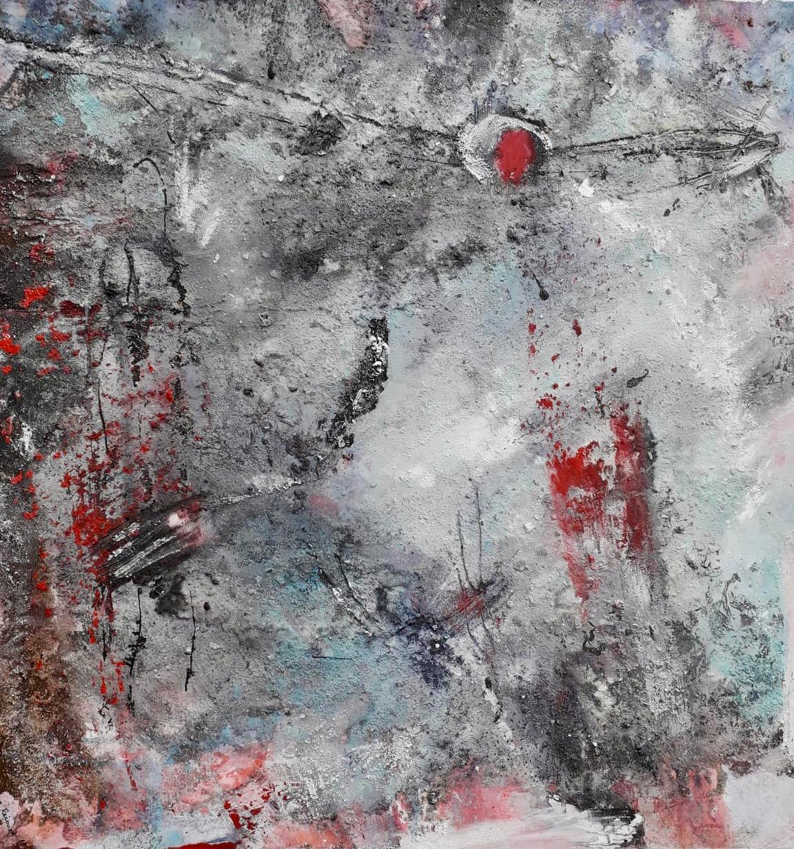 Unendlichkeit, Öl/Acryl Mischtechnik, 80 x 80cm
