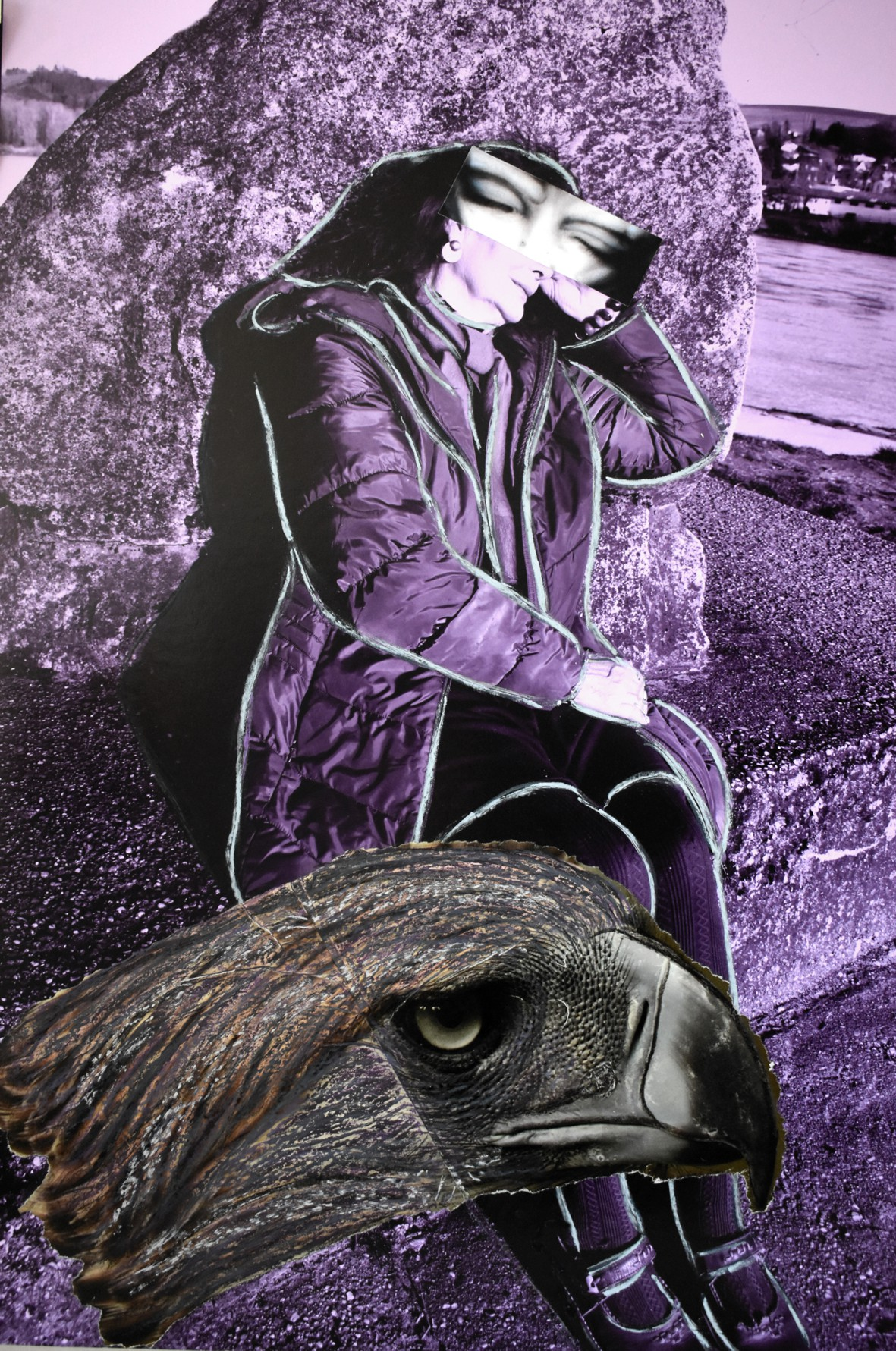 WAKE UP !  Erwache Weisheit...  , FotoCollage 2018, FINE-Art Gallery-Print auf Museumskarton, manuell überarbeitet, hxb 70 x 50 cm