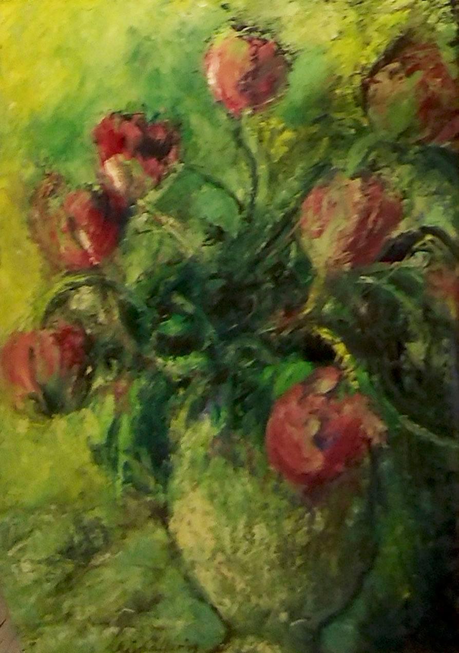 Frühlingsboten, Öl auf Leinwand, 70 x 50 cm