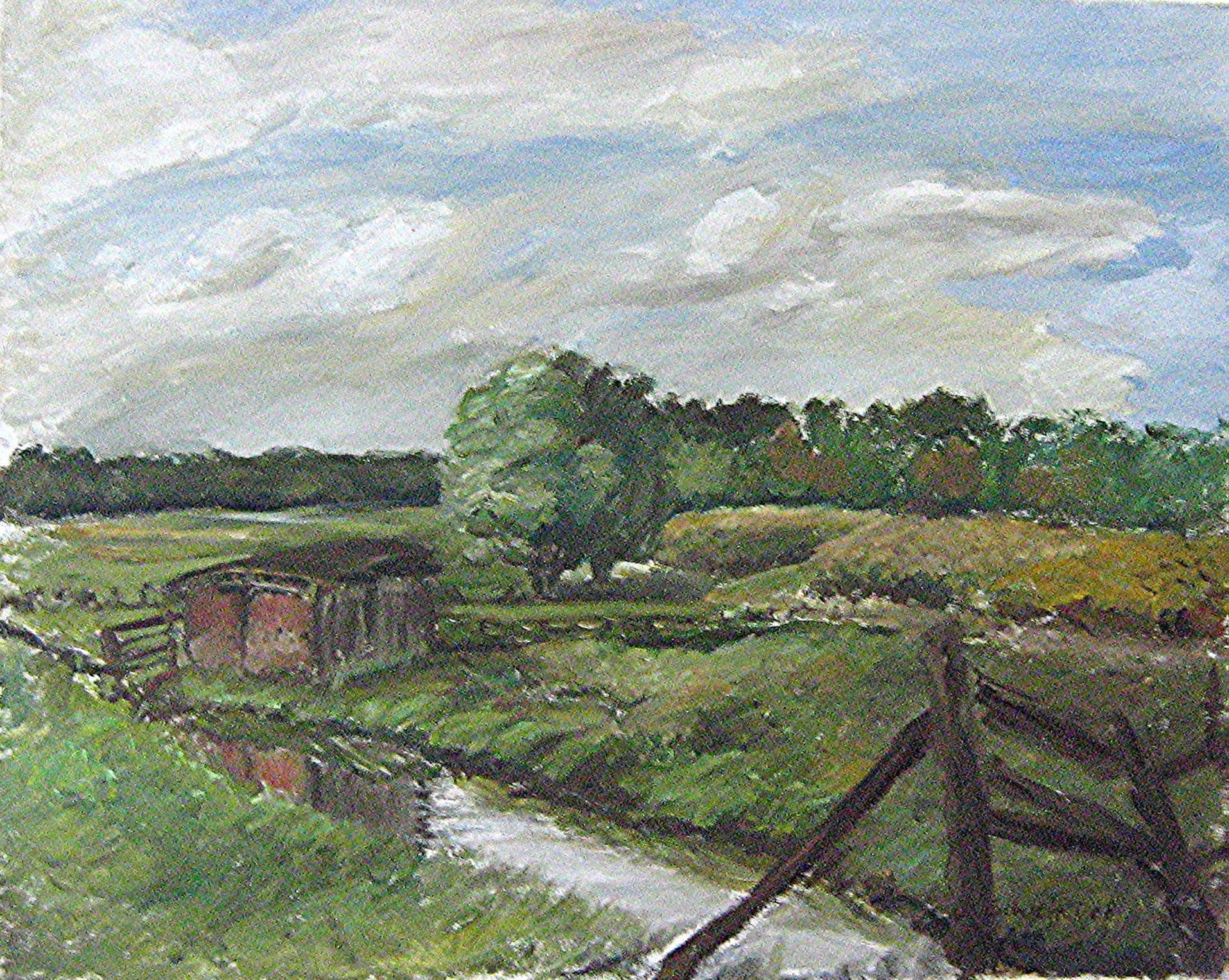 Sommerlandschaft, Öl auf Leinwand, 40 x 50 cm