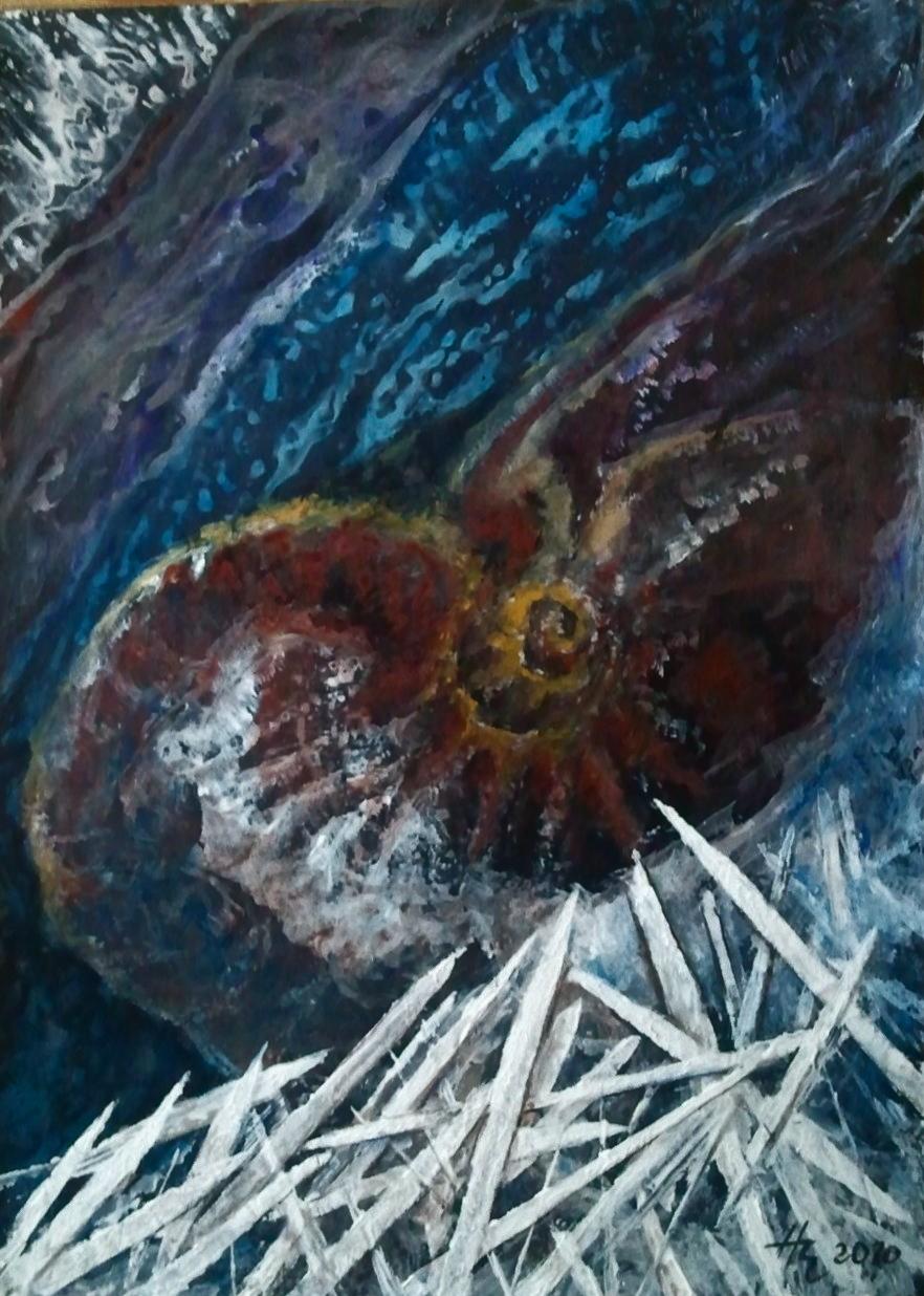 Versteinerungen, Acryl, 50 x 60 cm, 2012