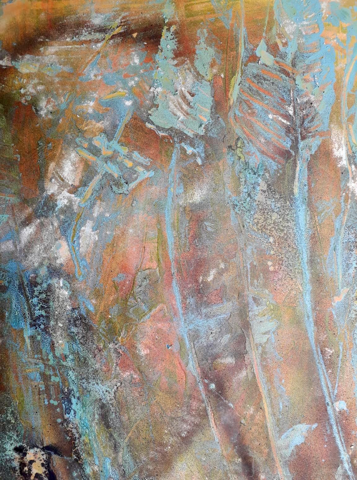 Weizen, Acryl Mischtechnik, 100 x 80cm