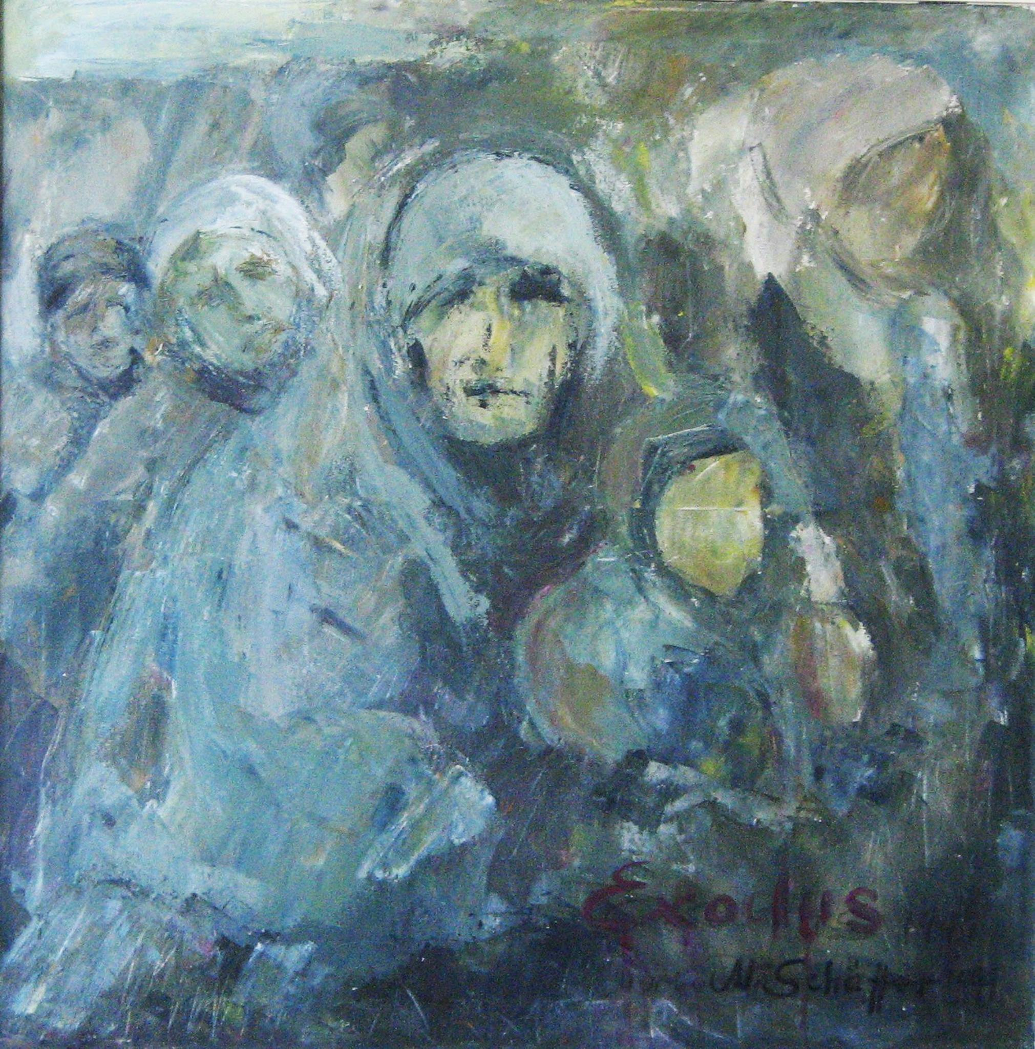 Exodus, Acryl auf Leinwand, 80 x 80 cm