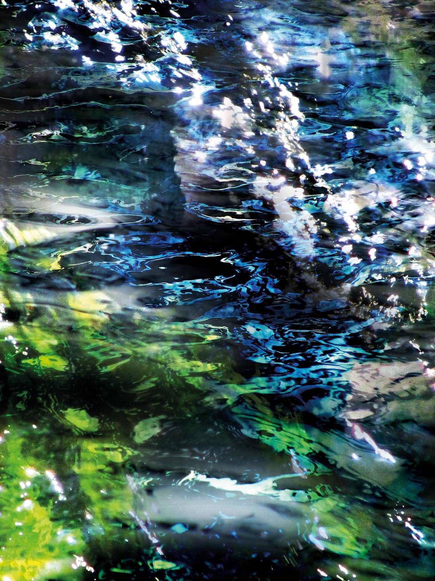 Reihe wasser_beständig: Ilz, digitale Collage/Malerei, 2014