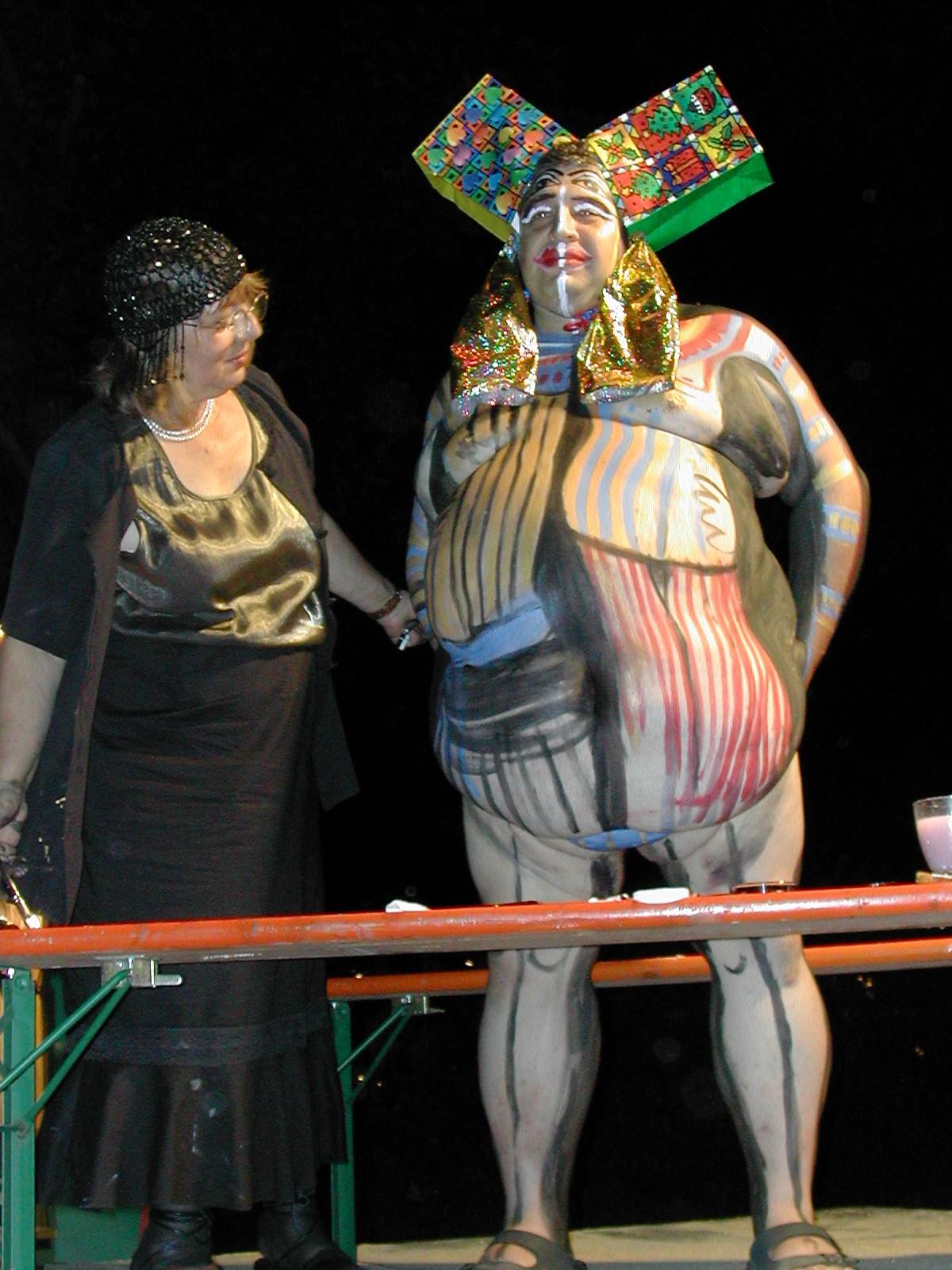 Bodypainting zur Kunstnacht
