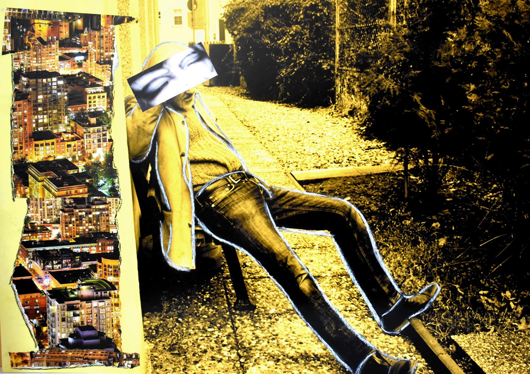 WAKE UP ! Erwache Toleranz... , FotoCollage 2018, FINE-Art Gallery-Print auf Museumskarton, manuell überarbeitet, hxb 70 x 50 cm