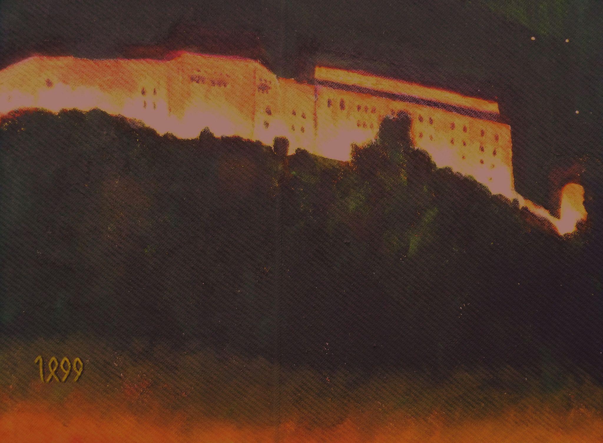 Leo Schreiner: Oberhaus Öl auf Leinwand, 40x50