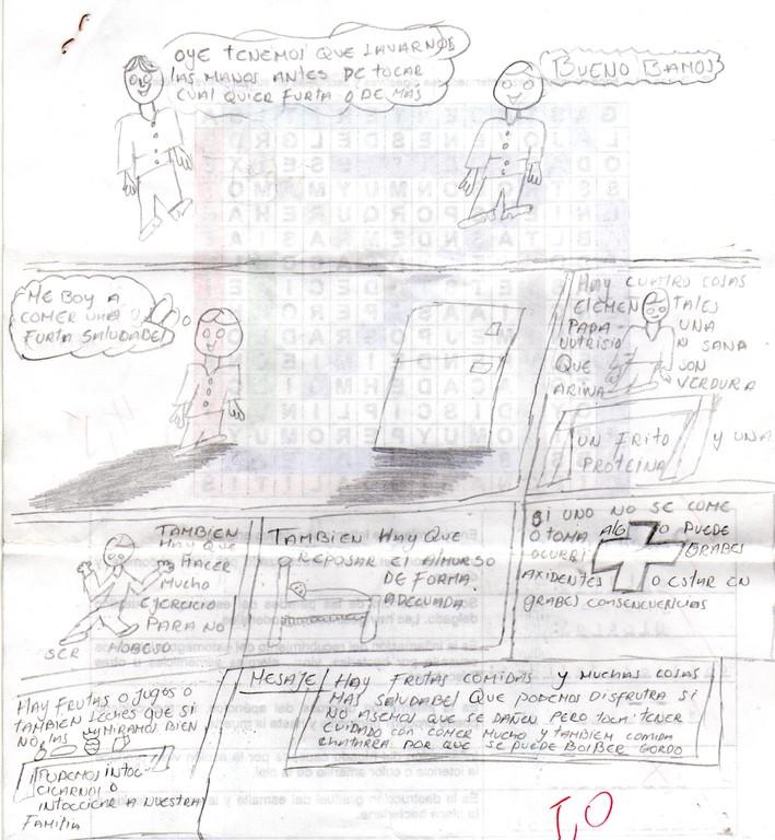 """HISTORIETA """"CUIDADOS DEL SISTEMA DIGESTIVO"""" De Juan Felipe Ortiz Grado 602"""