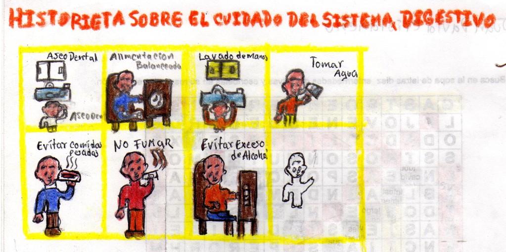 """HISTORIETA """"CUIDADOS DEL SISTEMA DIGESTIVO"""" De  Juan David Cristancho Grado 604"""