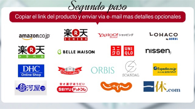 Solicitud de compra (enviar Link de producto mas detalles opcionales del producto)