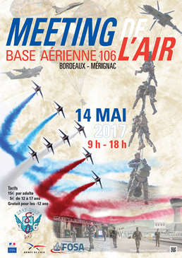 Meeting de l'air Bordeaux ba 106 merignac 2017