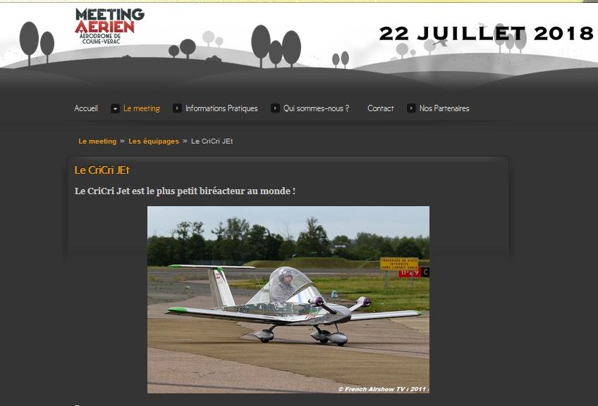 Couhé-Vérac 2018 : CriCri Jet