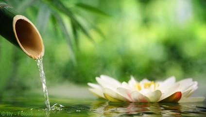 Bambuswasser von der Reiki Ausbildung
