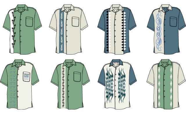 Designs for Men's shirts in Illustrator