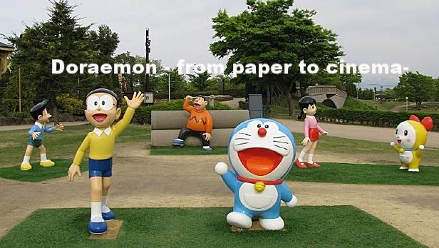 Suneo, Nobita, Gian, Doraemon, Shizuka, Dorami (from left) Takaoka Otogi no Kuni Park, Toyama Source: Wikipedia