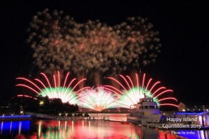 Fireworks at Happy Island Countdown at Yokohama Hakkeijima Sea Paradise Source: Hanabinomori