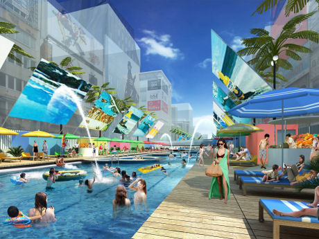 dotonbori swimming pool plan