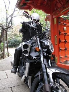 Ghost Rider came to Atago shrine in Tokyo