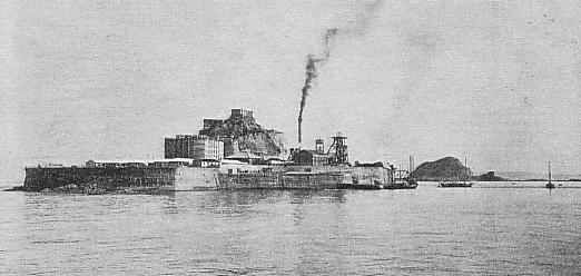Hashima around 1930 Source: wikipedia