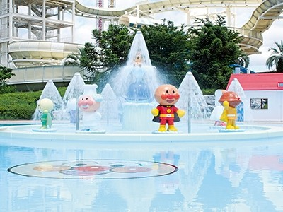 Kids can enjoy Ampanman pool Source: official website and All about