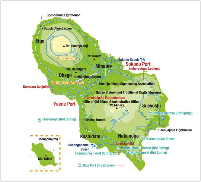 Hachijojima map Source: Tokai kisen