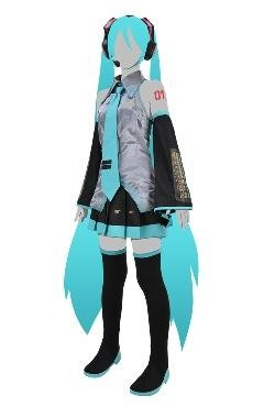 Hatsune Miku cosplay set available from Cospa shop Source: Crypton Future Media, Inc./Cospa