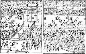 Big fire in Edo in 1657 near Asakusa gate