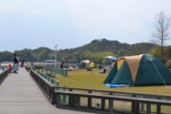 Camping site on Okunoshima island Source: Hiroshima prefecture