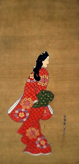 Mikaeri Bijin ( the beauty looking back) famous japanese painting Source: Wikipedia