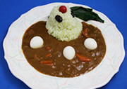 Ranka Lee and Ai-kun theme curry rice 900JPY at Macross cafe Source: Noboru Ishiguro/Kadokawa/Studio Nue/Hirakata Park