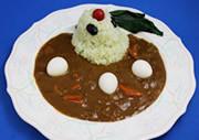 Ranka Lee and Ai-kun theme curry rice 900JPY at Macross cafe Source: Noboru Ishiguro/Kadokawa/Studio Nue/Hirakata Park