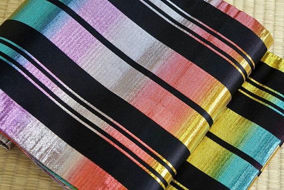 Holographic obi belt - a Kimono revolution Source: salz kimono