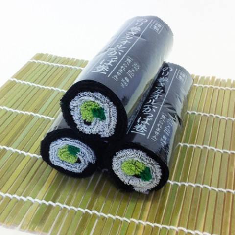 Sushi roll towel 648JPY Source: VVstore