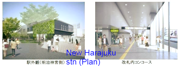 New Harajuku station Source: JR East edited by onegai kaeru