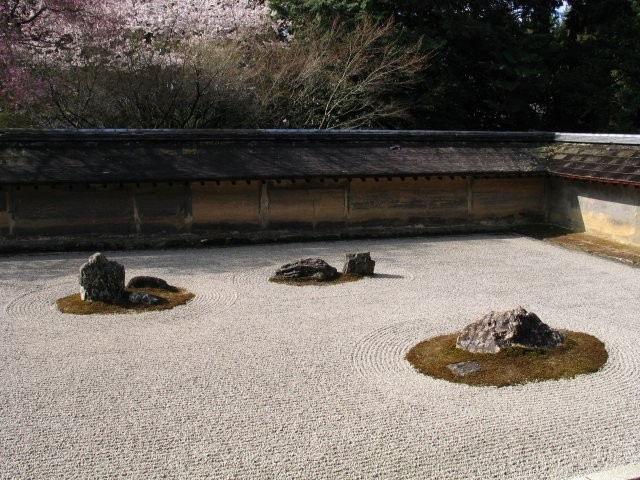 Typical Japanese garden in temples Source: Wikipedia