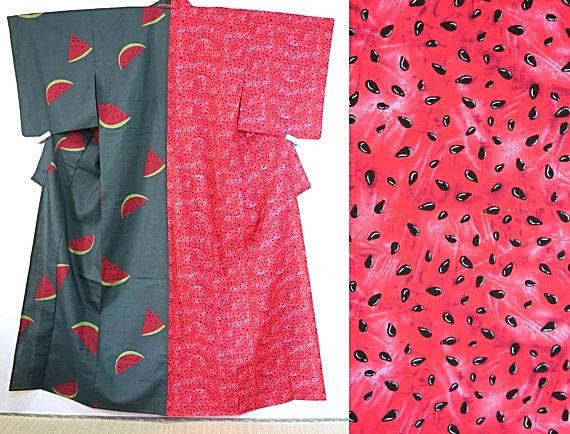 Water melon Yukata! you find a very new and unique Kimono  Source: Salz kimono