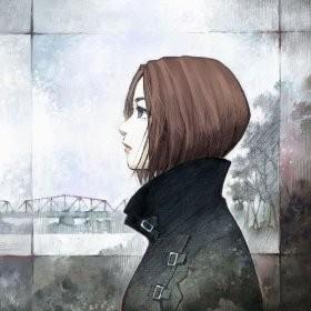 Sakura Nagashi cover design by Yoshiyuki Sadamoto, character designer for Evangelion series click here to the amazon website for the song