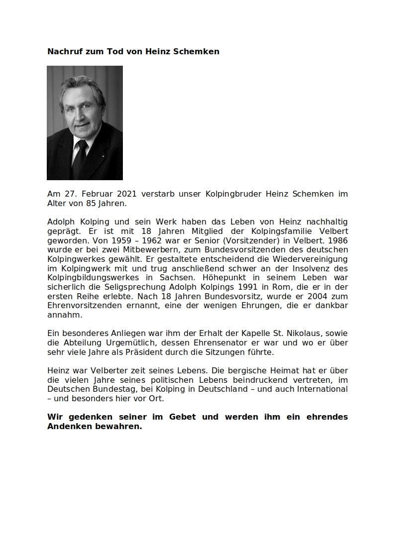 Bildgenehmigung: Peter Jansen, Diözesanpräses Kolping Diözesanverband Köln