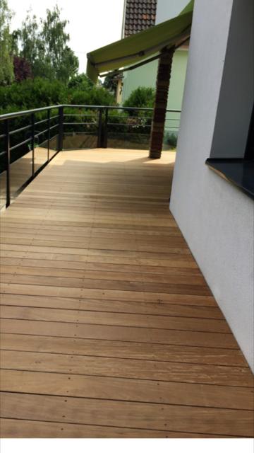 finalisation de la pose de la terrasse bois ipé Strasbourg 67 Activ Renovation