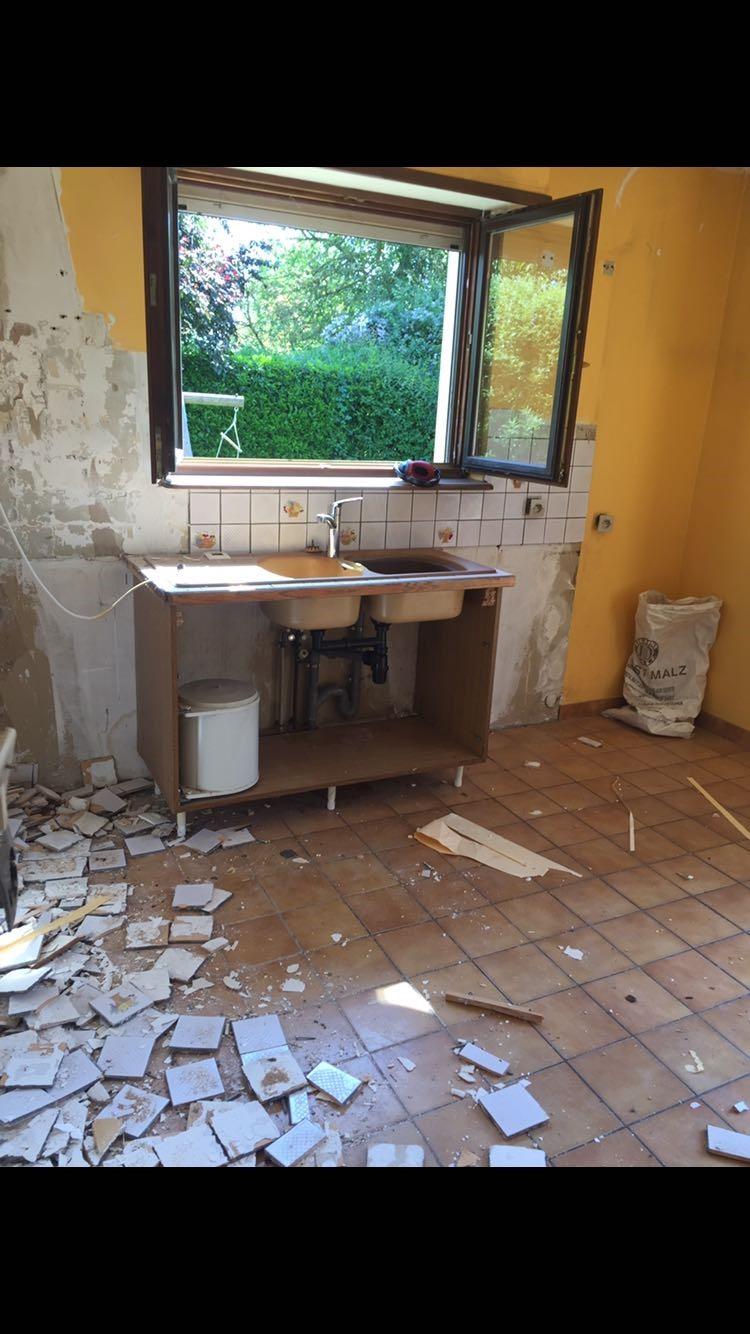 Enlever anciens carrelages des murs et du sol Fegersheim 67