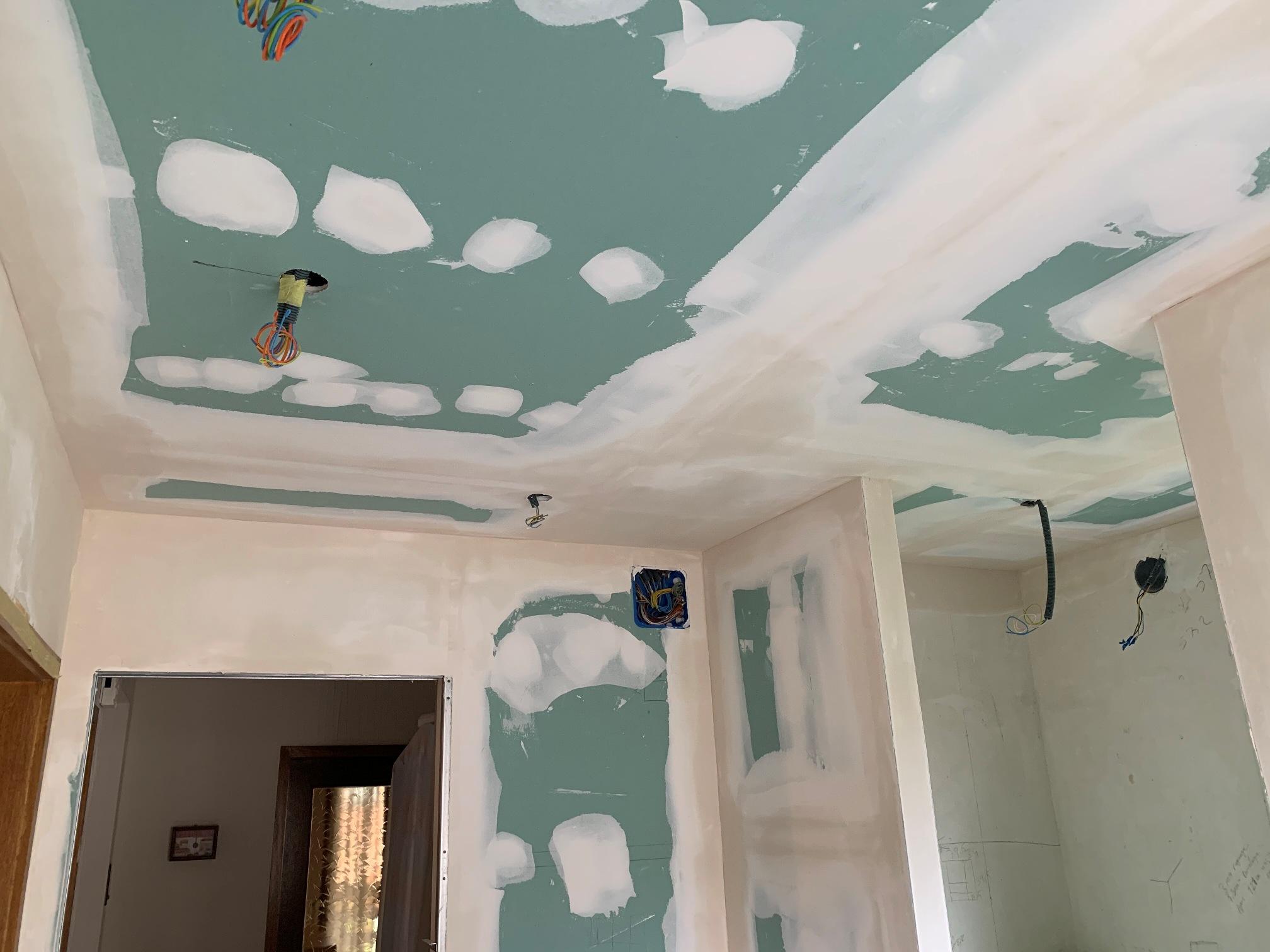 Pose plafond autoportant