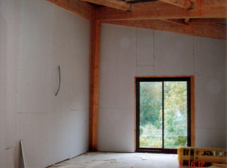 Isolation mur avec doublage sur ossature métallique Prégymétal laine de verre, Activ-Rénovation Illkirch-Graffenstaden, 67