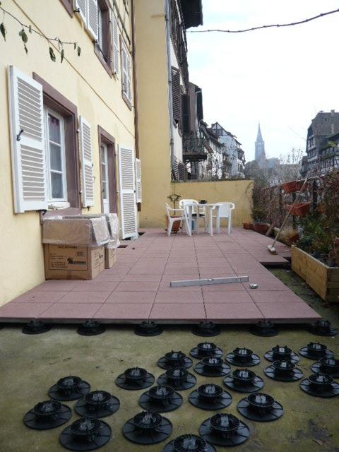 Pose de dalles sur terrasse  Activ Renovation Strasbourg 67