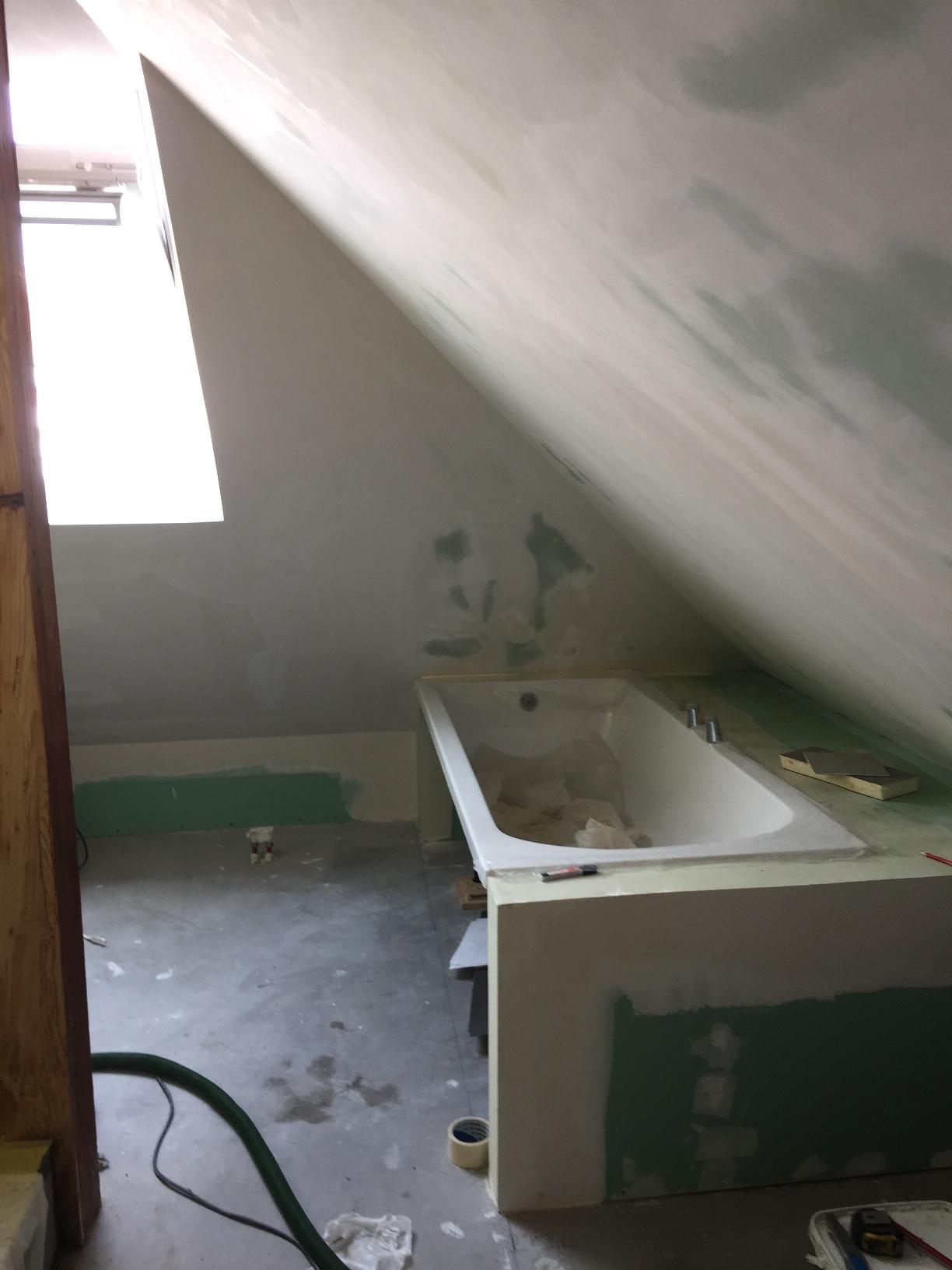 Réalisation contour et tablier de baignoire encastrée