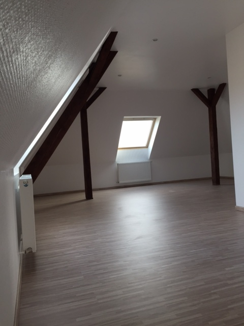 Résultat après travaux de faux-plafond,rampant, peinture et parquet Lauterbourg