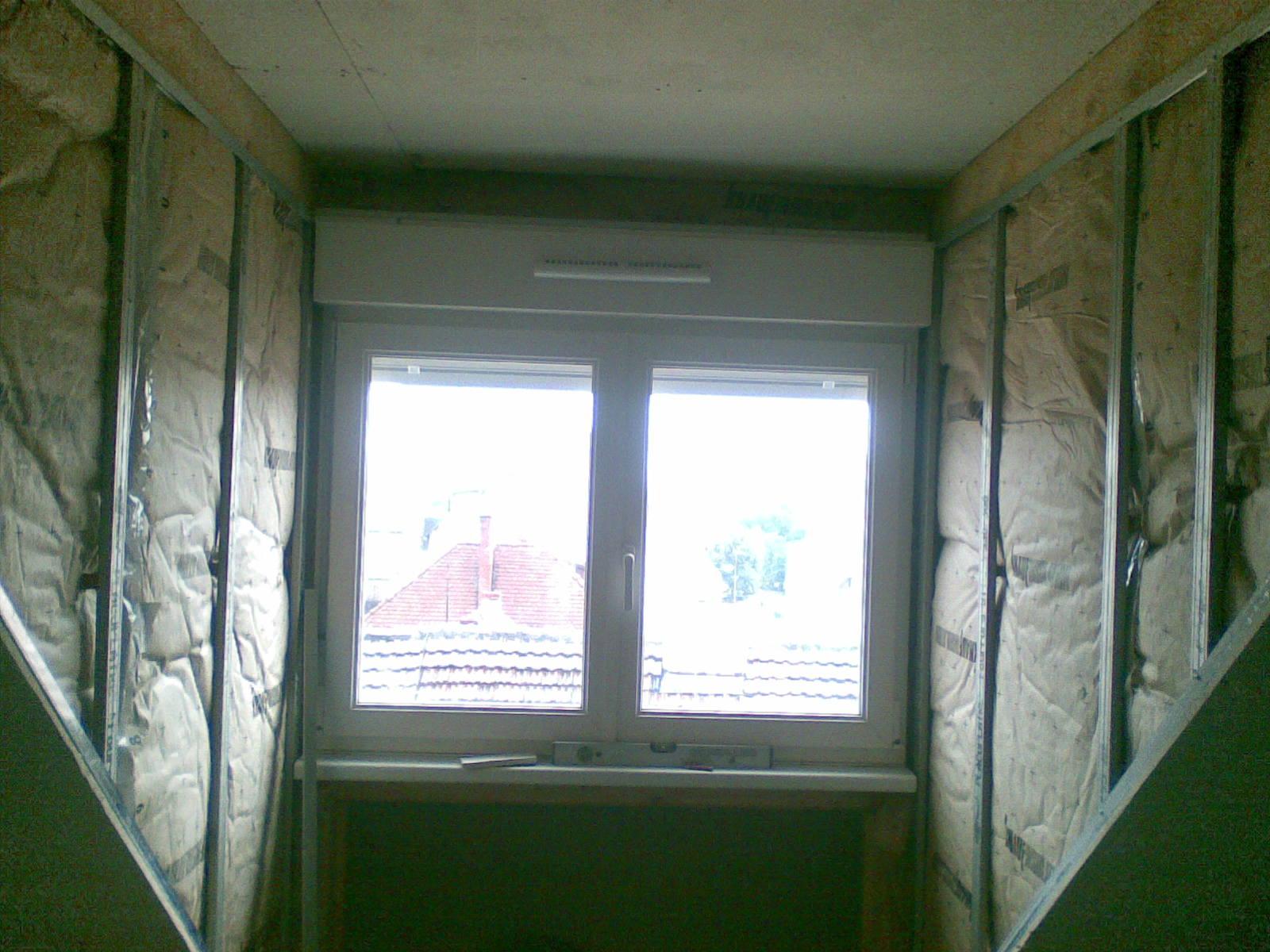 Finition de joues de fenêtres avec plaque de plâtre Strasbourg 67 Activ Renovation