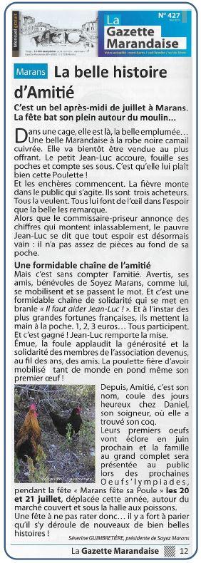 """""""Amitiés de Soyez Marans"""" - La Gazette marandaise - Mai 2019"""