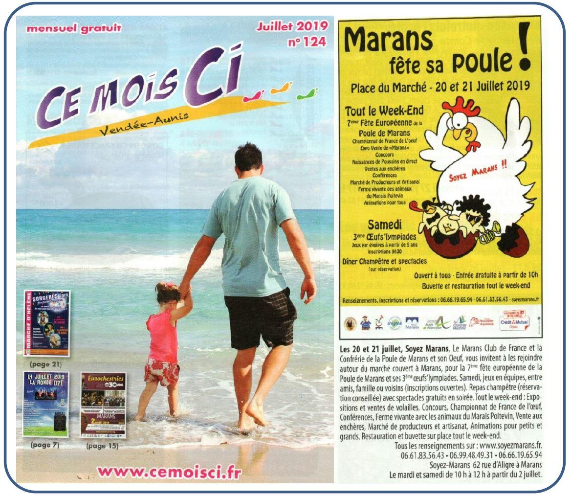 Marans fête sa poule 2019 - Ce mois ci - Juillet 2019