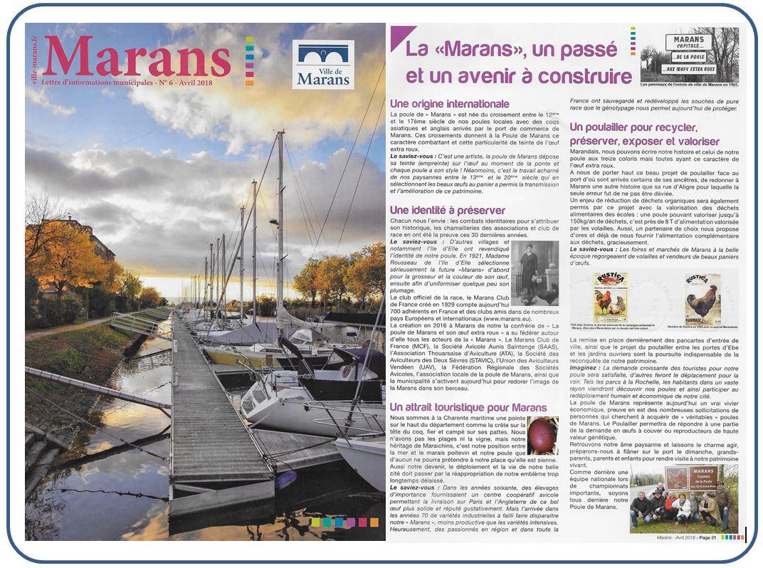 La Poule de Marans - Marans magazine - Juin 2018